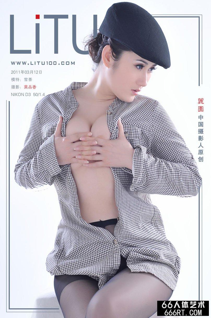 新超模雪茶11月3月12日室拍黑丝人体,明星潘丹人体艺术照