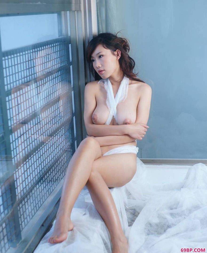 超模蓝衣细纱美体3